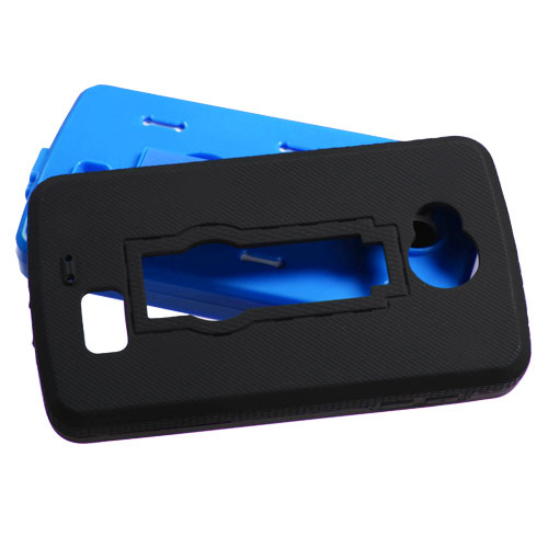 Black on Blue Symbiosis Dual Layer Hybrid Case for LG Tribute