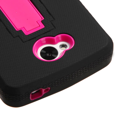 Black on Pink Symbiosis Dual Layer Hybrid Case for LG Tribute