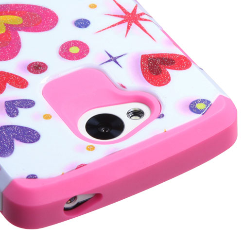 Sparkle Hearts Hybrid Unity Case LG Tribute