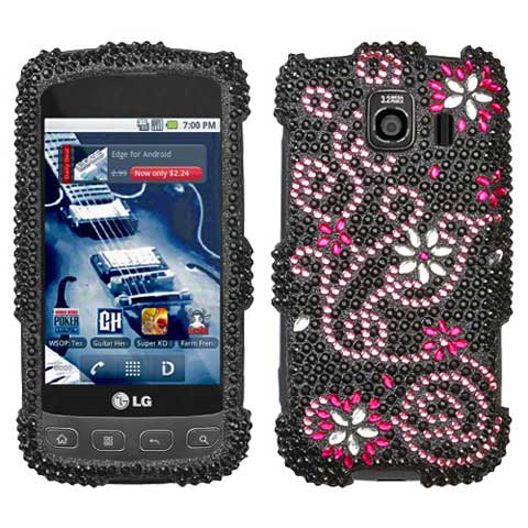 Delight Crystal Rhinestones Bling Case for LG Optimus V