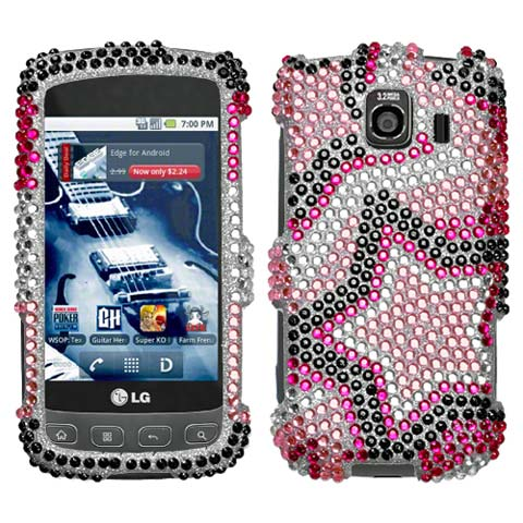 Superstar Crystal Rhinestones Bling Case for LG Optimus V