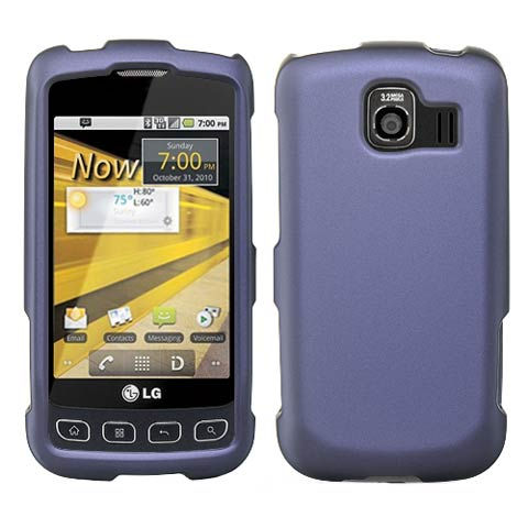 Purple Rubberized Hard Case for LG Optimus V