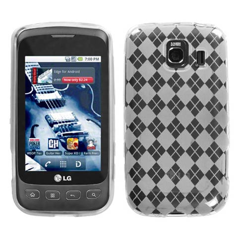 Frost White Argyle TPU Case for LG Optimus V