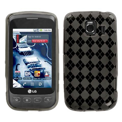 Smoke Grey Argyle TPU Case for LG Optimus V