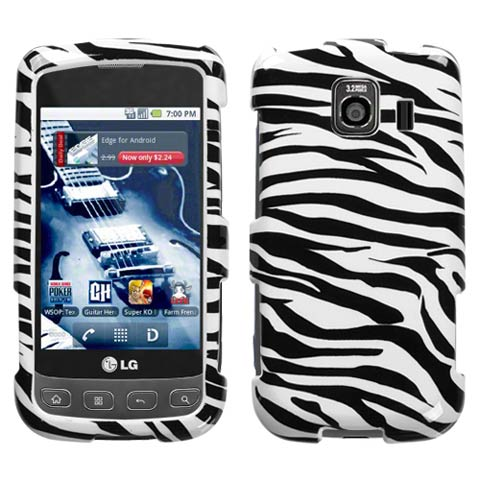 Zebra Hard Case for LG Optimus V