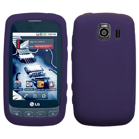 Purple Silicone Skin Cover for LG Optimus V