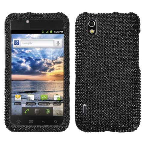 Black Crystal Rhinestones Bling Case for LG Marquee
