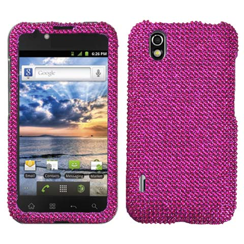 Hot Pink Crystal Rhinestones Bling Case for LG Marquee