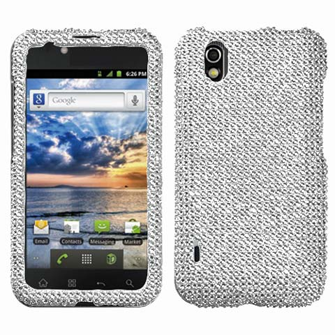 Silver Crystal Rhinestones Bling Case for LG Marquee