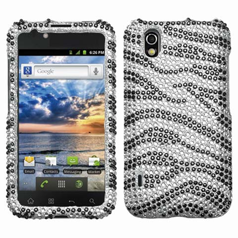 Zebra Crystal Rhinestones Bling Case for LG Marquee