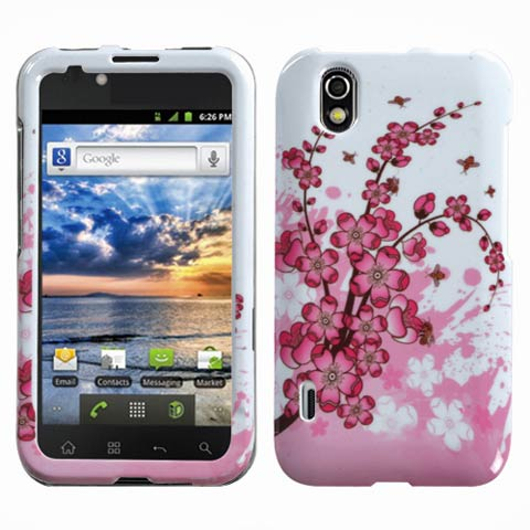 Pink Flowers Hard Case for LG Marquee