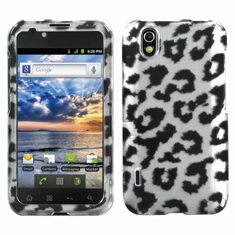 Silver Leopard Hard Case for LG Marquee