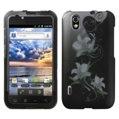 Lilies Rubberized Hard Case for LG Marquee