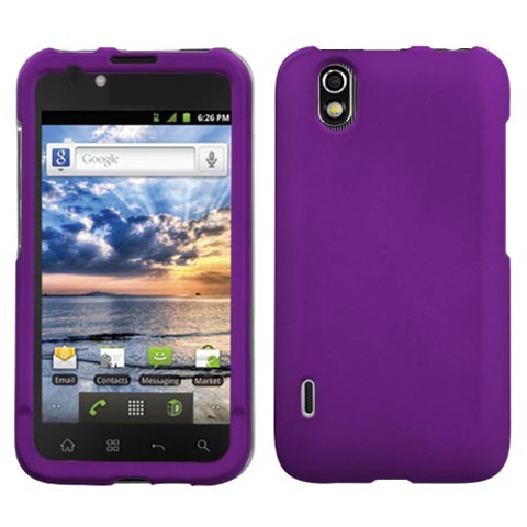 Purple Rubberized Hard Case for LG Marquee
