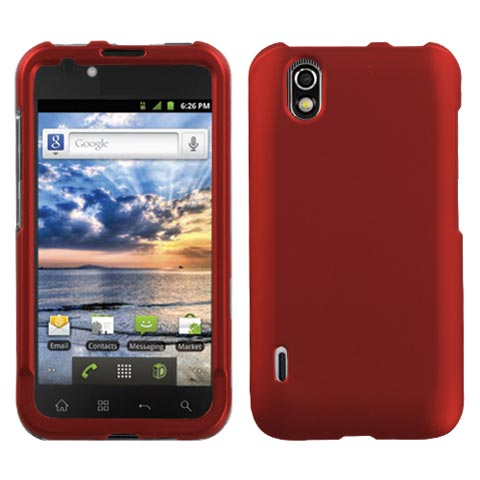 Red Rubberized Hard Case for LG Marquee