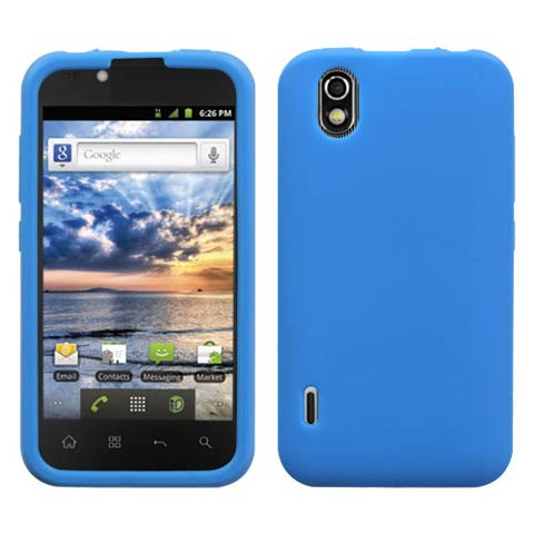 Blue Silicone Skin Cover for LG Marquee