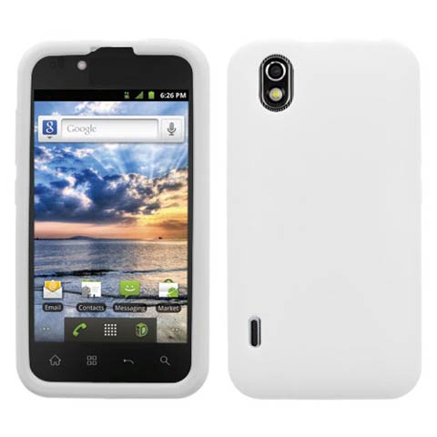 Frost White Silicone Skin Cover for LG Marquee