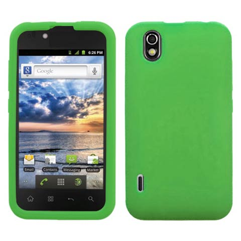 Green Silicone Skin Cover for LG Marquee