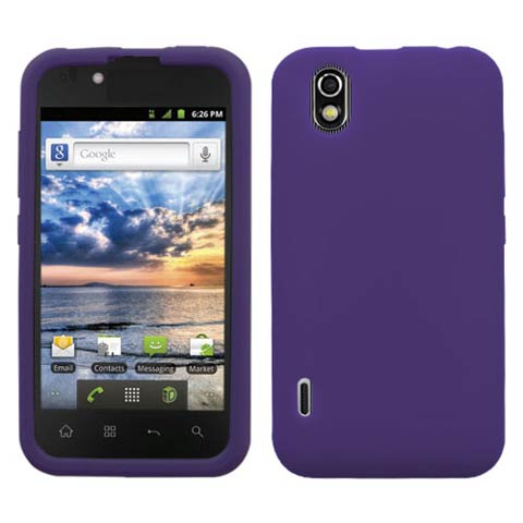 Purple Silicone Skin Cover for LG Marquee