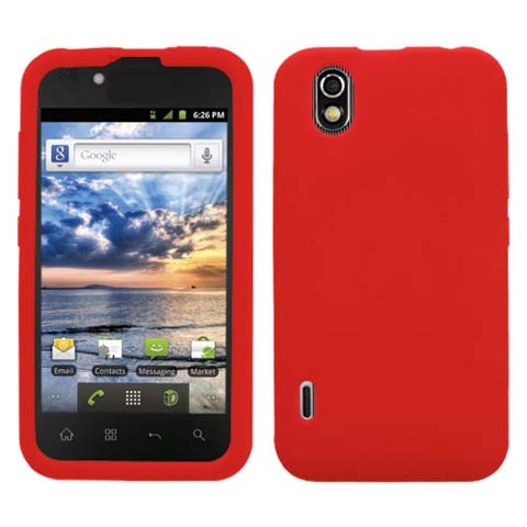 Red Silicone Skin Cover for LG Marquee