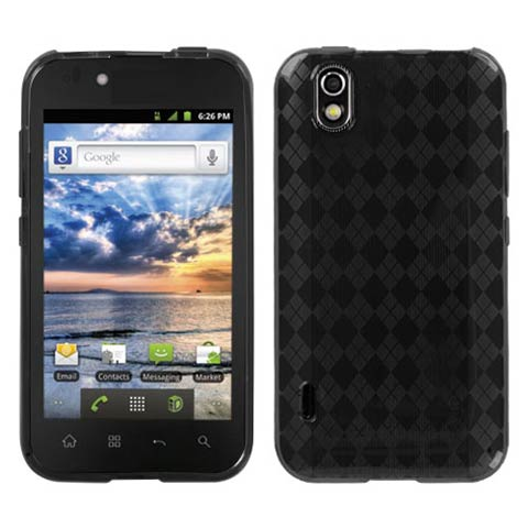 Smoke Argyle TPU Case for LG Marquee