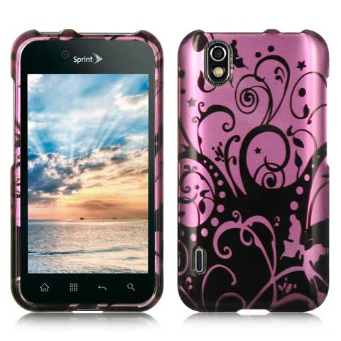 Purple Swirls Hard Case for LG Marquee