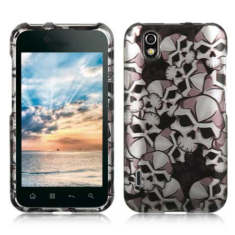 Silver Skulls Hard Case for LG Marquee