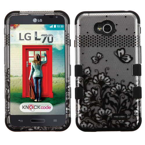 Black Lace Synergy Hybrid Case for LG Realm