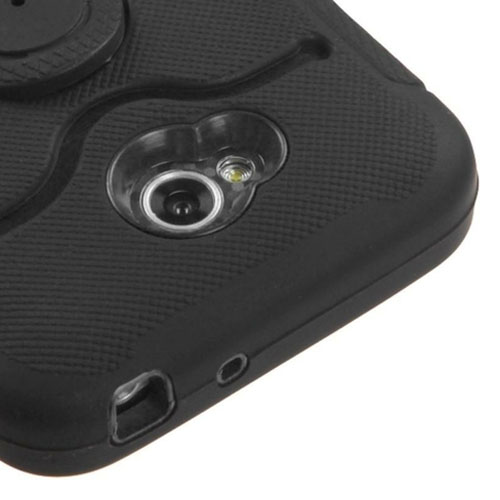 Black U Stand Symbiosis Hybrid Case for LG Optimus Exceed 2