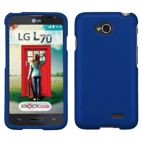 Blue Rubberized Hard Case for LG Optimus L70