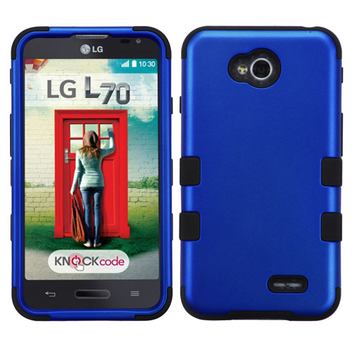 Blue Synergy Hybrid Case for LG Optimus L70