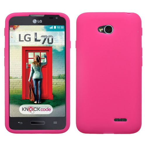 Hot Pink Silicone Cover for LG Optimus L70
