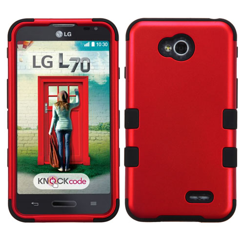 Red Synergy Hybrid Case for LG Optimus L70
