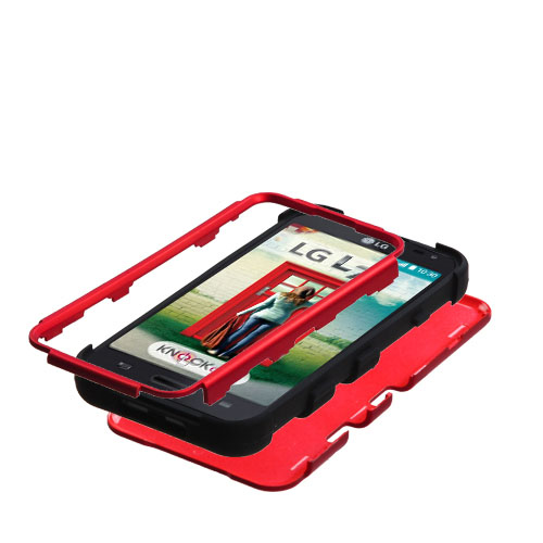 Red Synergy Hybrid Case for LG Realm