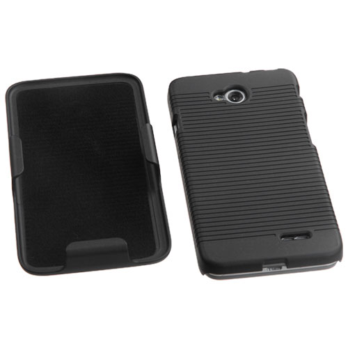 LG Optimus L70 Ribs Case + Holster