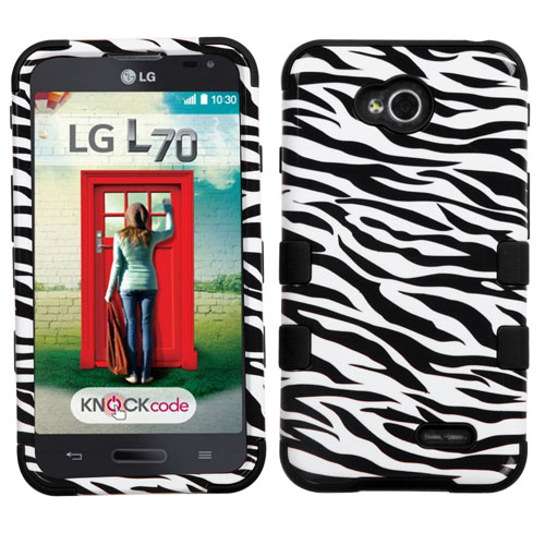 Zebra Synergy Hybrid Case for LG Optimus L70