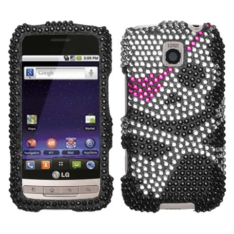Pirate Crystal Rhinestones Bling Case for LG Optimus M