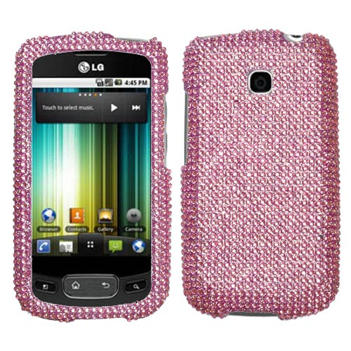 Pink Crystal Rhinestones Bling Case for LG Optimus T