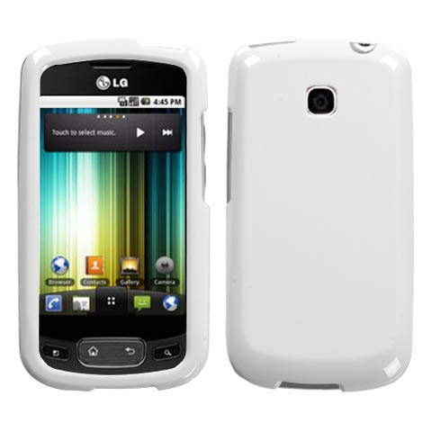 White Hard Case for LG Optimus T