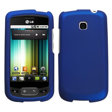 Blue Rubberized Hard Case for LG Optimus T