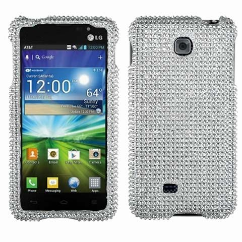 Silver Crystal Rhinestones Bling Case for LG Escape