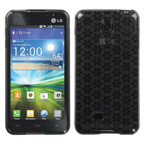 Smoke Hexagon TPU Case for LG Escape