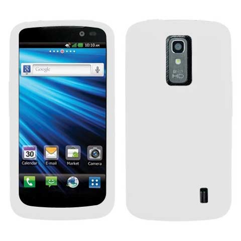 Frost White Silicone Skin Cover for LG Nitro HD