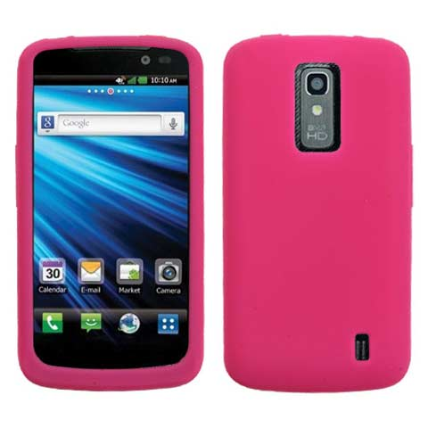 Hot Pink Silicone Skin Cover for LG Nitro HD