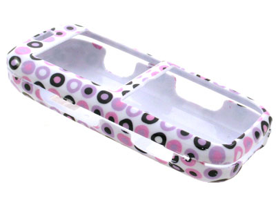 LG Rumor Snap On Faceplate Case (Purple Dots)