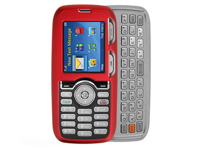 LG Rumor Rubberized Snap On Faceplate Case (Red)