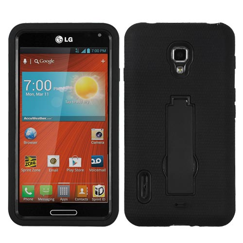 Black Symbiosis Dual Layer Hybrid Case for LG Optimus F7