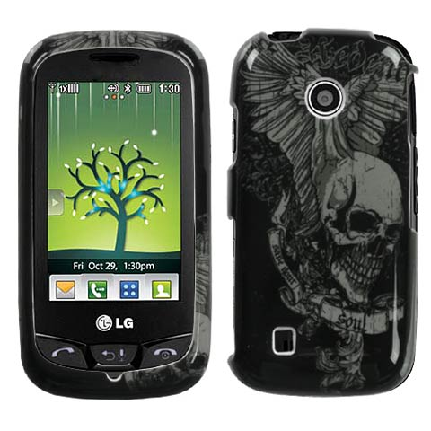 Skull Wings Hard Case for LG Cosmos Touch