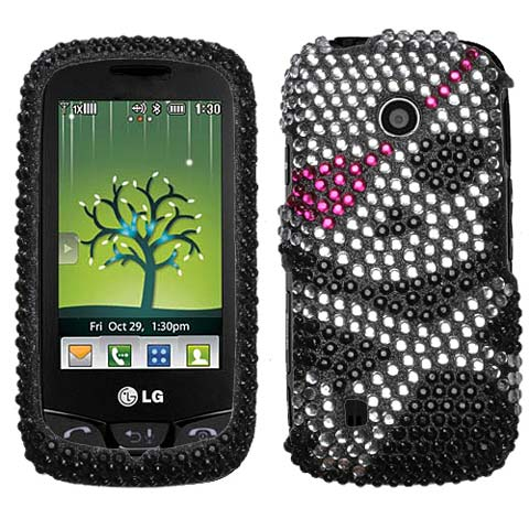 Pirate Crystal Rhinestones Bling Case for LG Cosmos Touch