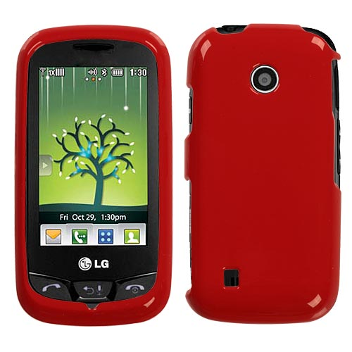 Red Hard Case for LG Cosmos Touch